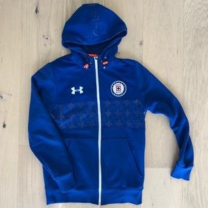 d7e4c3bdcf0 Under Armour Jackets   Coats - Official Cruz Azul Mexico Soccer Warm Up  Hoodie